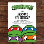 Free Printable Ninja Turtle Birthday Invitations | Želve | Convites   Free Printable Ninja Turtle Birthday Invitations