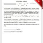 Free Printable Noncompete, Contractor Legal Forms | Free Legal Forms   Free Legal Forms Online Printable
