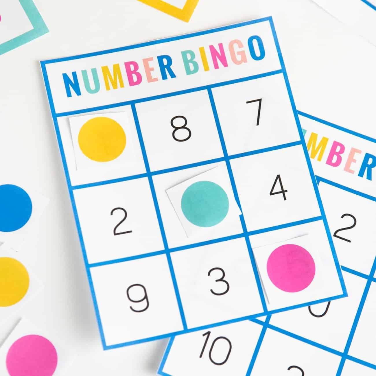 Free Printable Number Bingo - Design Eat Repeat - Free Printable Bingo Chips