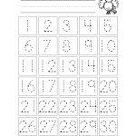 Free Printable Number Chart 1 30 | Kinder | Number Tracing   Free Printable Number Worksheets
