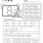 Free Printable Number Eight Worksheet For Kindergarten   Free Printable Number Worksheets