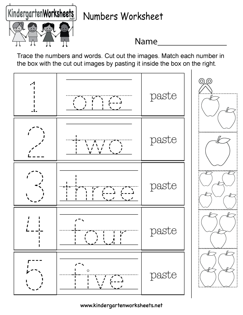 Free Printable Numbers Worksheet For Kindergarten - Free Printable Name Worksheets For Kindergarten