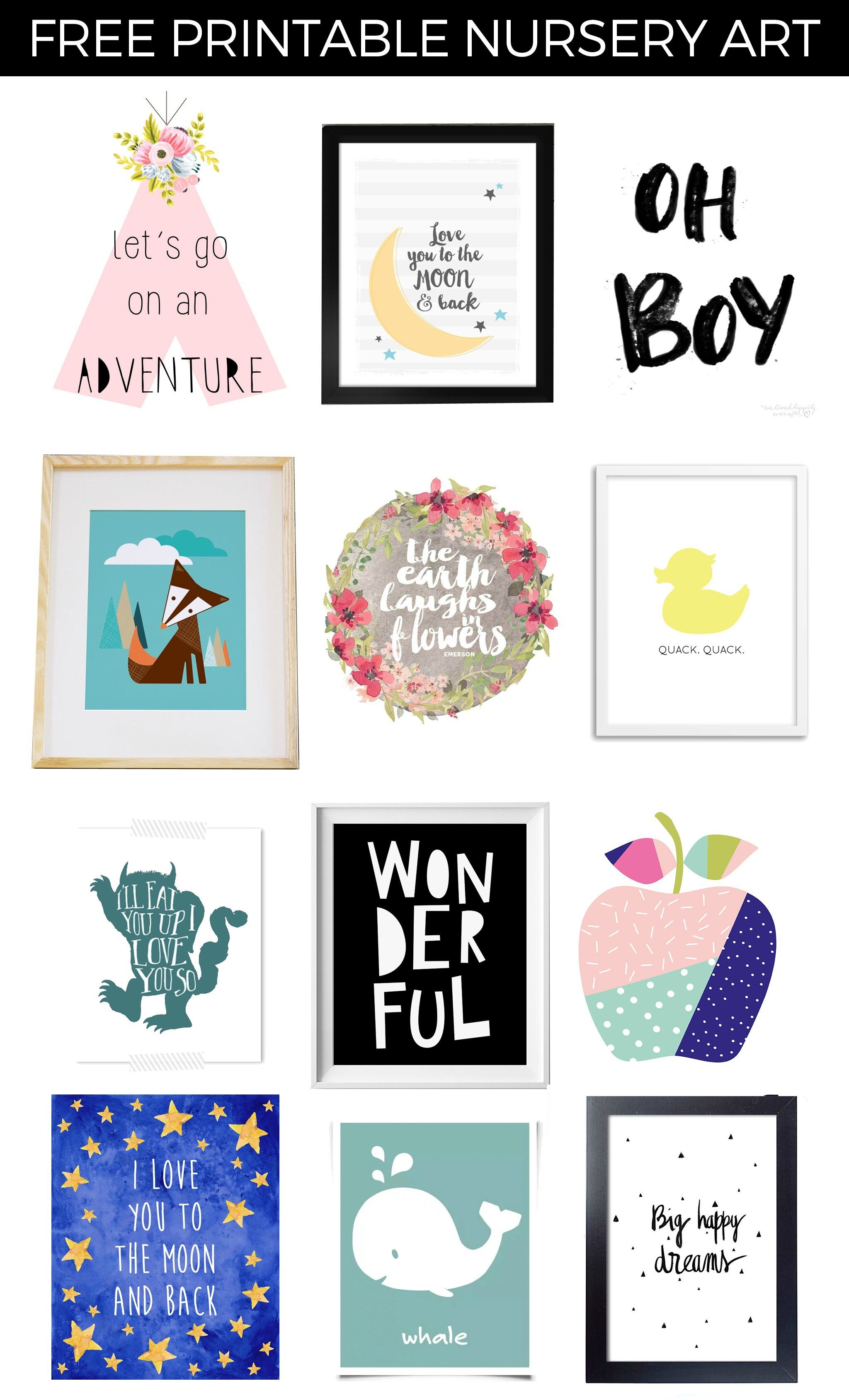 Free Printable Nursery Art - Project Nursery - Free Nursery Printables