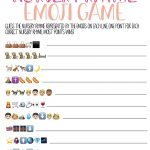 Free Printable Nursery Rhyme Baby Shower Emoji Game   Play Party Plan   Emoji Baby Shower Game Free Printable