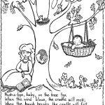 Free Printable Nursery Rhymes Coloring Pages For Kids   Free Printable Mother Goose Nursery Rhymes