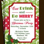 Free Printable Office Christmas Party Invitations | Party Stuff   Free Printable Christmas Party Flyer Templates