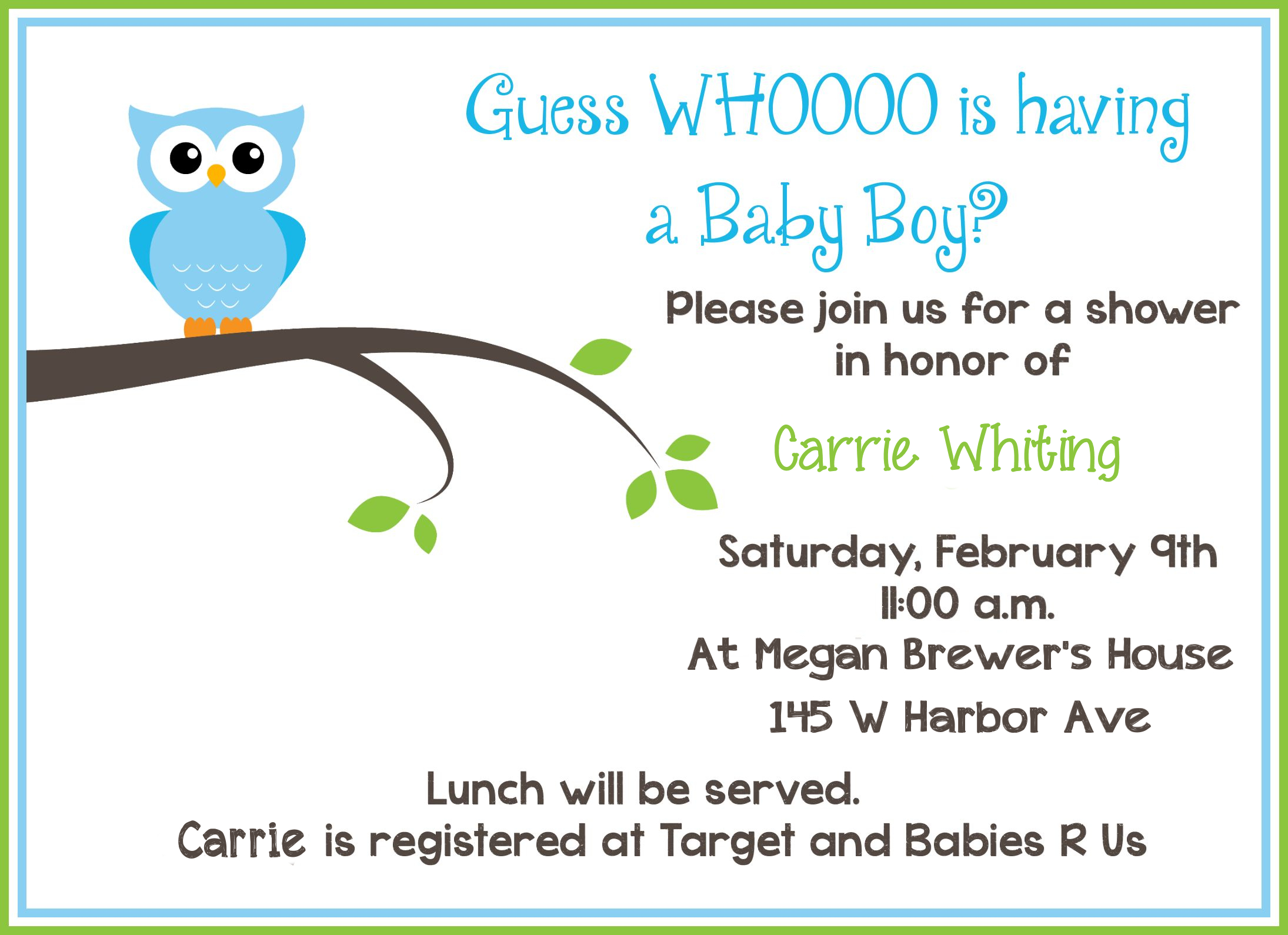 Free Printable Owl Baby Shower Invitations | Owl Let You In If You - Free Printable Baby Shower Invitations For Boys
