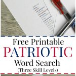 Free Printable Patriotic Word Search, With Three Different Skill   Free Printable Sud