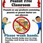 Free Printable Peanut Free Classroom Poster 8X10 | Peanut/tree Nut   Printable Nut Free Signs
