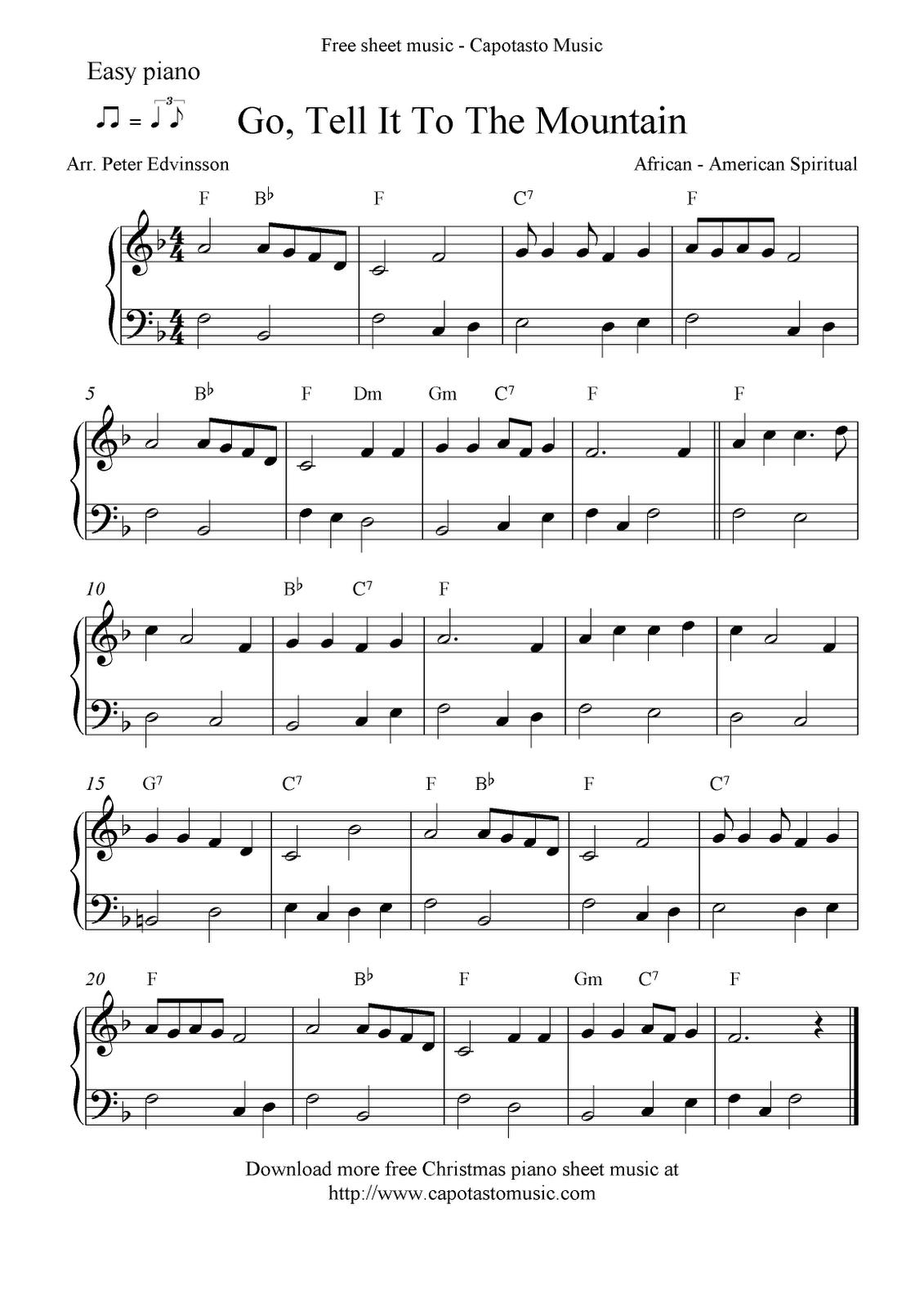 Free Printable Piano Sheet Music | Free Sheet Music Scores: Easy - Free Printable Christmas Music Sheets Piano