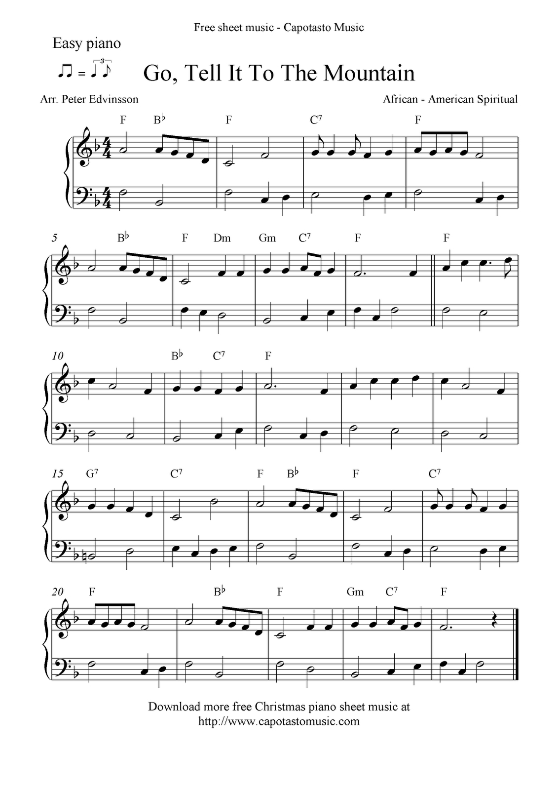 Free Printable Piano Sheet Music | Free Sheet Music Scores: Easy - Free Printable Frosty The Snowman Sheet Music