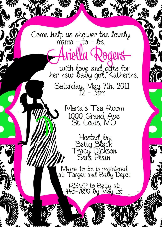 Free Printable Pink Zebra Baby Shower Invitations | P | Zebra Baby - Free Printable Pink Zebra Baby Shower Invitations