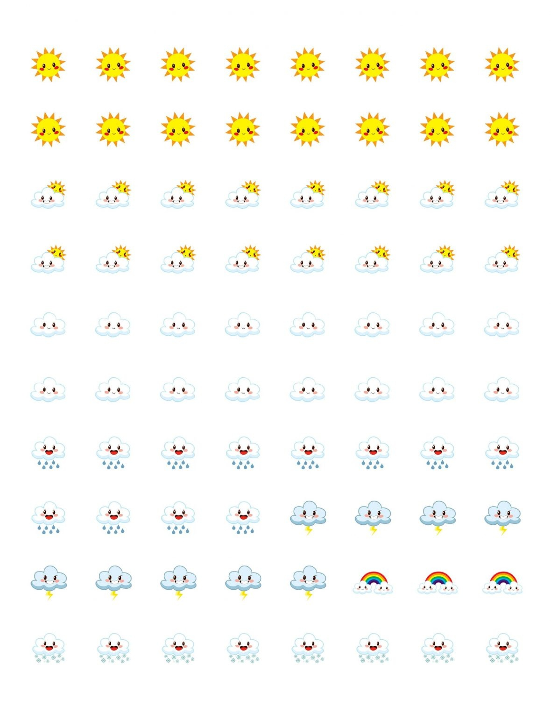 Free Printable Planner Stickers - Weather Icons | Mini Van Dreams - Free Printable Icons