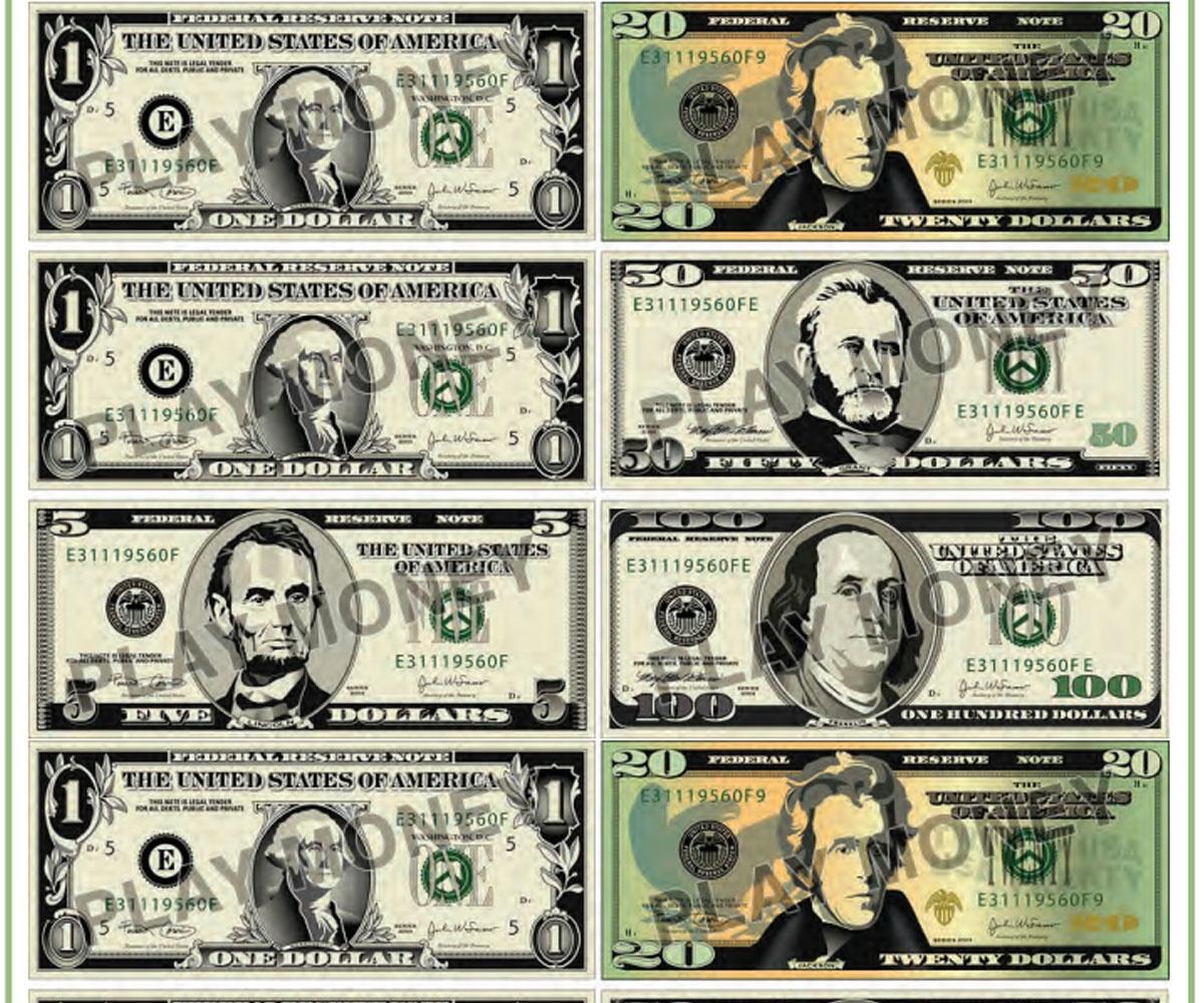 Free Printable Play Money - Familyeducation - Free Printable Fake Money That Looks Real