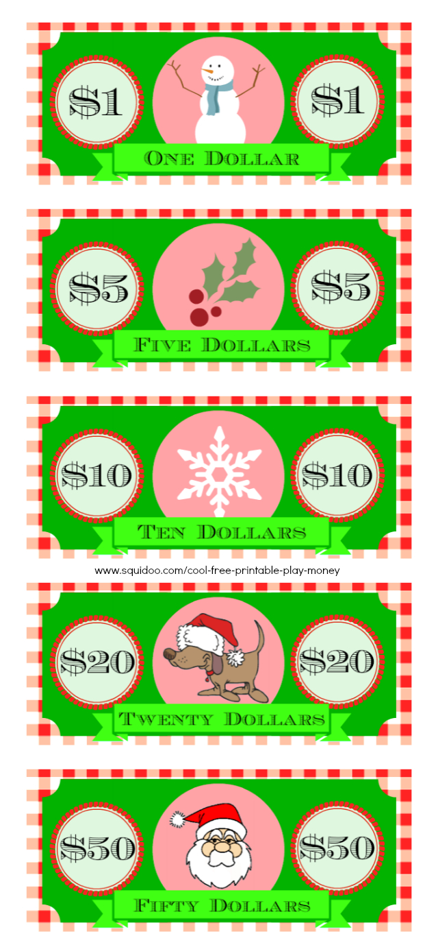 Free Printable Play Money Kids Will Love   Elf On A Shelf - Free Printable Money For Kids