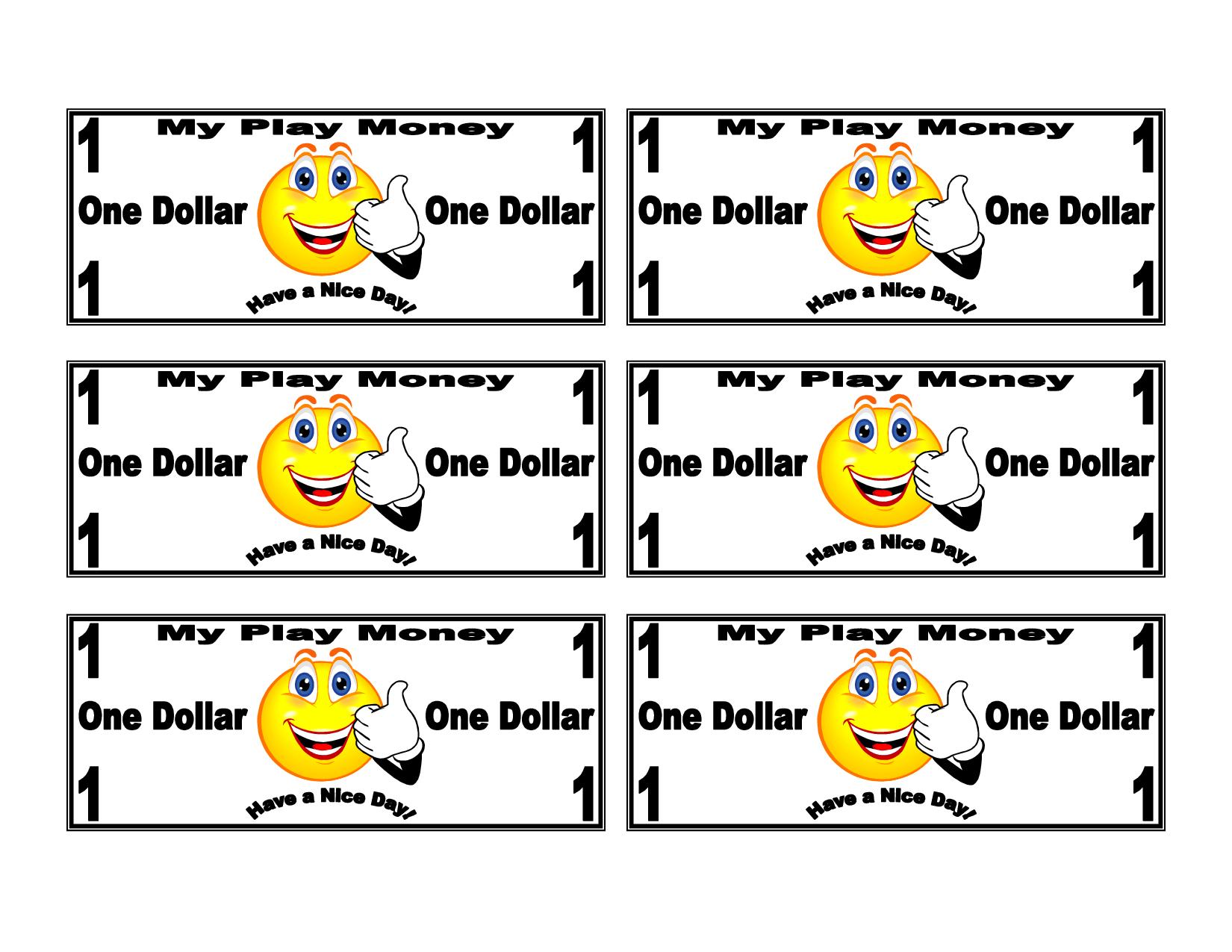 Free Printable Play Money   Printable Money Template Play Money Kids - Free Printable Money For Kids
