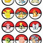 Free Printable Pokemon Cupcake Toppers   Pokemon In 2019   Pokemon   Free Printable Pictures Of Pokemon