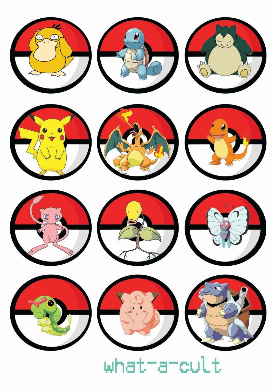 Free Printable Pokemon Cupcake Toppers   Pokemon In 2019   Pokemon - Free Printable Pictures Of Pokemon