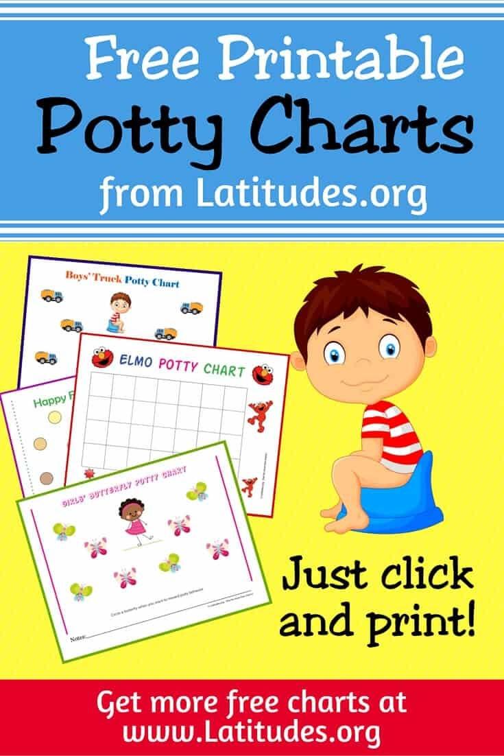 Free Printable Potty Training Charts For Boys And Girls   Acn Latitudes - Potty Training Chart Free Printable