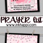 Free Printable Prayer List! Never Doubt The Power Of Prayer   Free Printable Prayer List