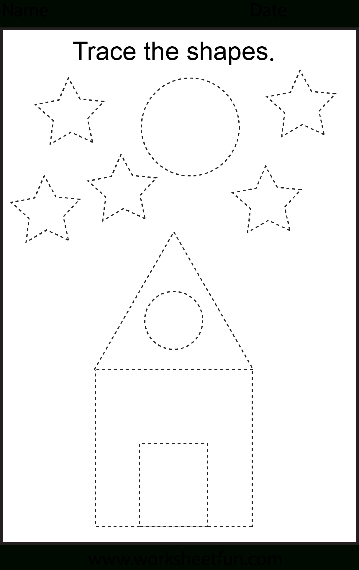 Free Printable Preschool Worksheets - This One Is Trace The Shapes - Free Printable Hoy Sheets