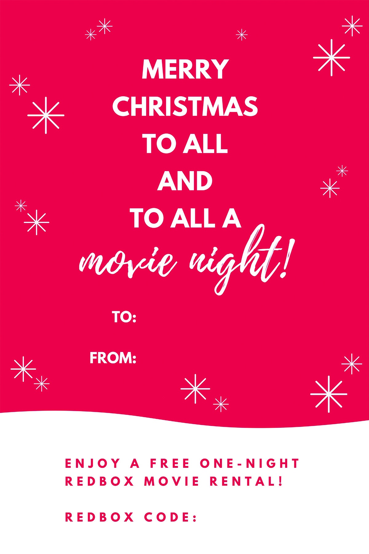 Free Printable: Redbox Movie Christmas Gift Tags | Gifts | Christmas - Free Printable Redbox Gift Tags