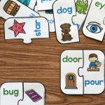 Free Printable Rhyming Puzzles | Work Things | Rhyming Preschool   Free Printable Rhyming Activities For Kindergarten