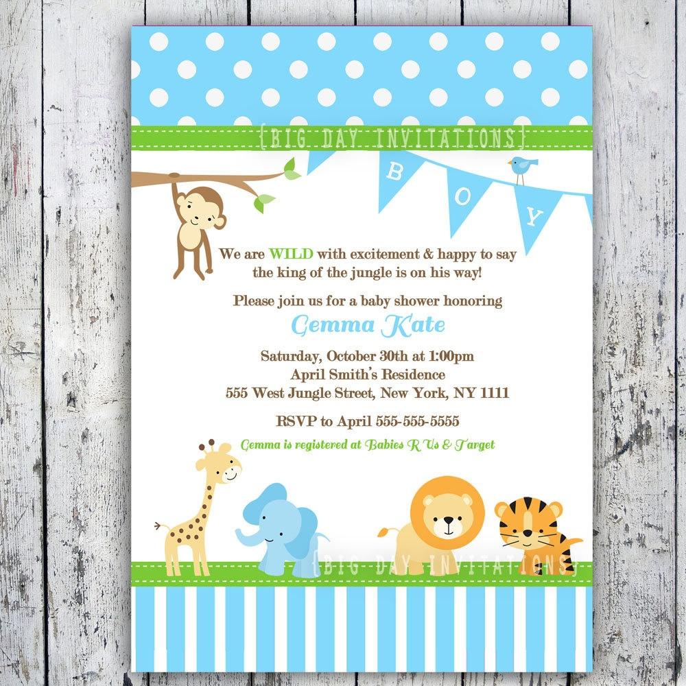 Free Printable Safari Baby Shower Invitations Best Baby Shower - Free Printable Jungle Safari Baby Shower Invitations