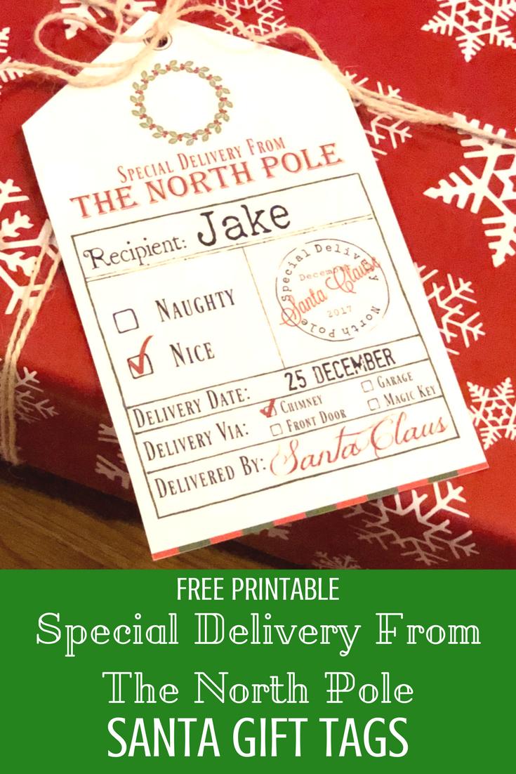 Free Printable Santa Gift Tags | Kids Christmas | Christmas Gift - Free Printable Santa Gift Tags