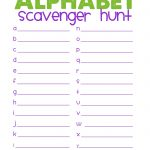 Free Printable Scavenger Hunt | Alphabet Scavenger Hunt | Best   Free Printable Scavenger Hunt For Kids