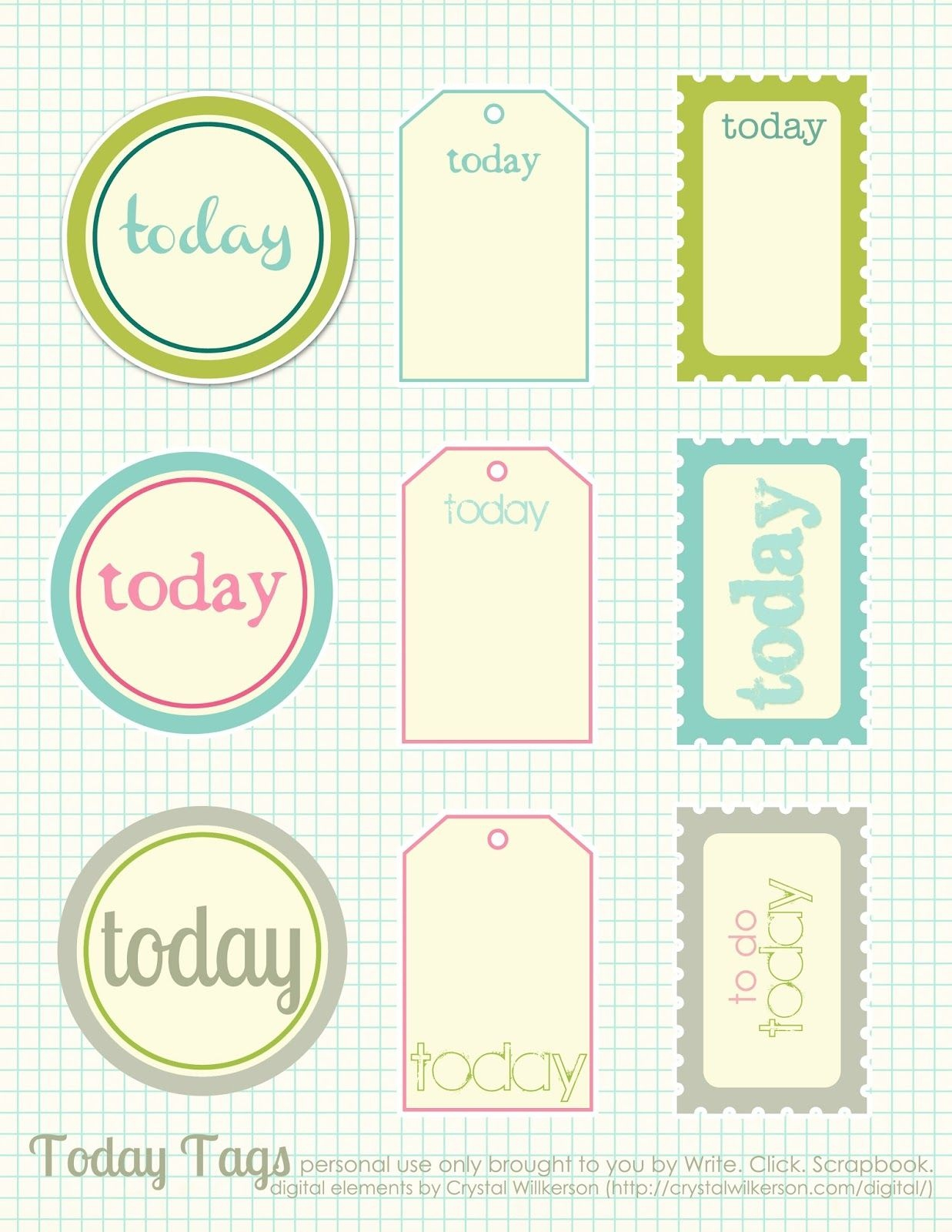 Free Printable Scrapbook Cutouts | Printable For All Topics - Free Printable Scrapbook Templates