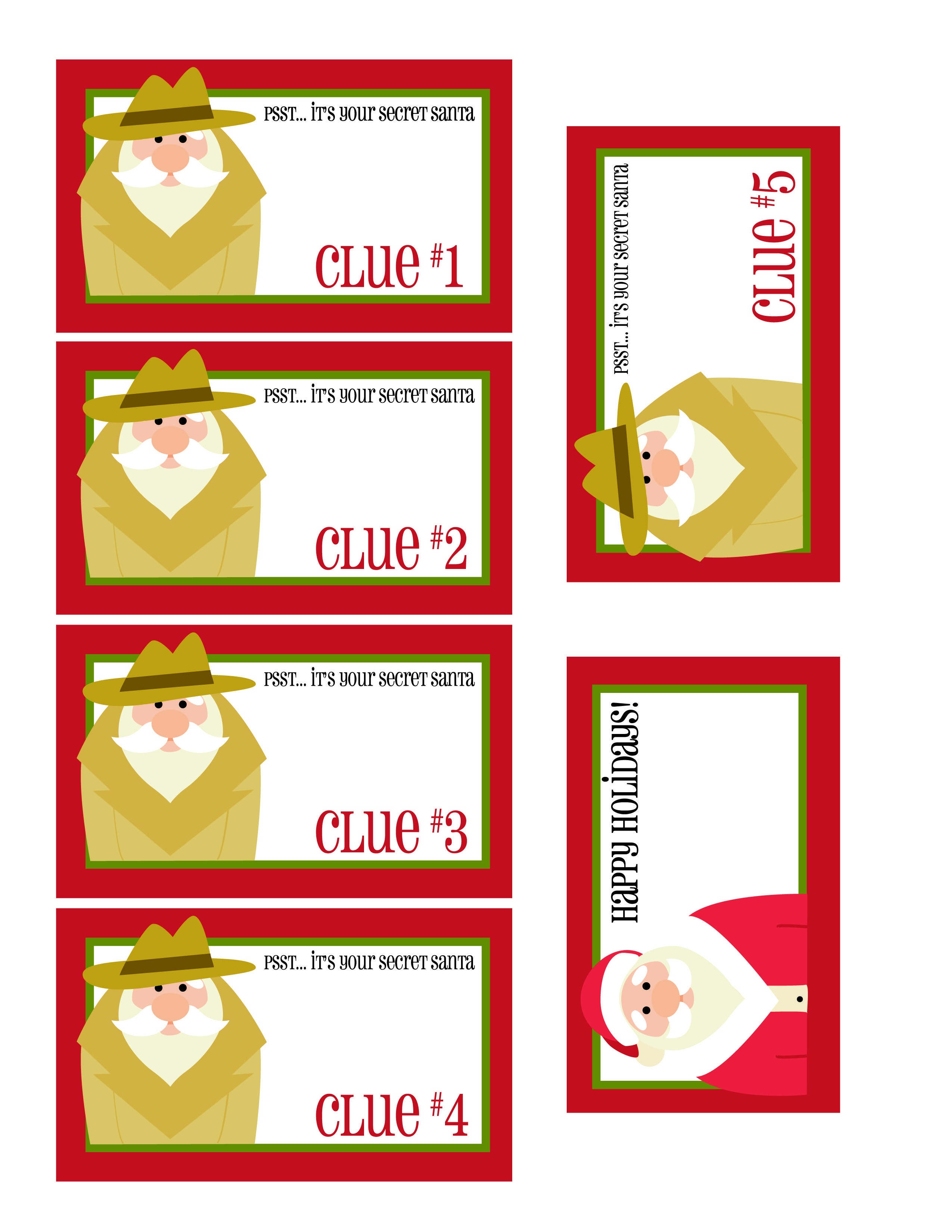 Free Printable Secret Santa Gift Tags Be The Best Secret Santa Ever - Free Printable Santa Gift Tags