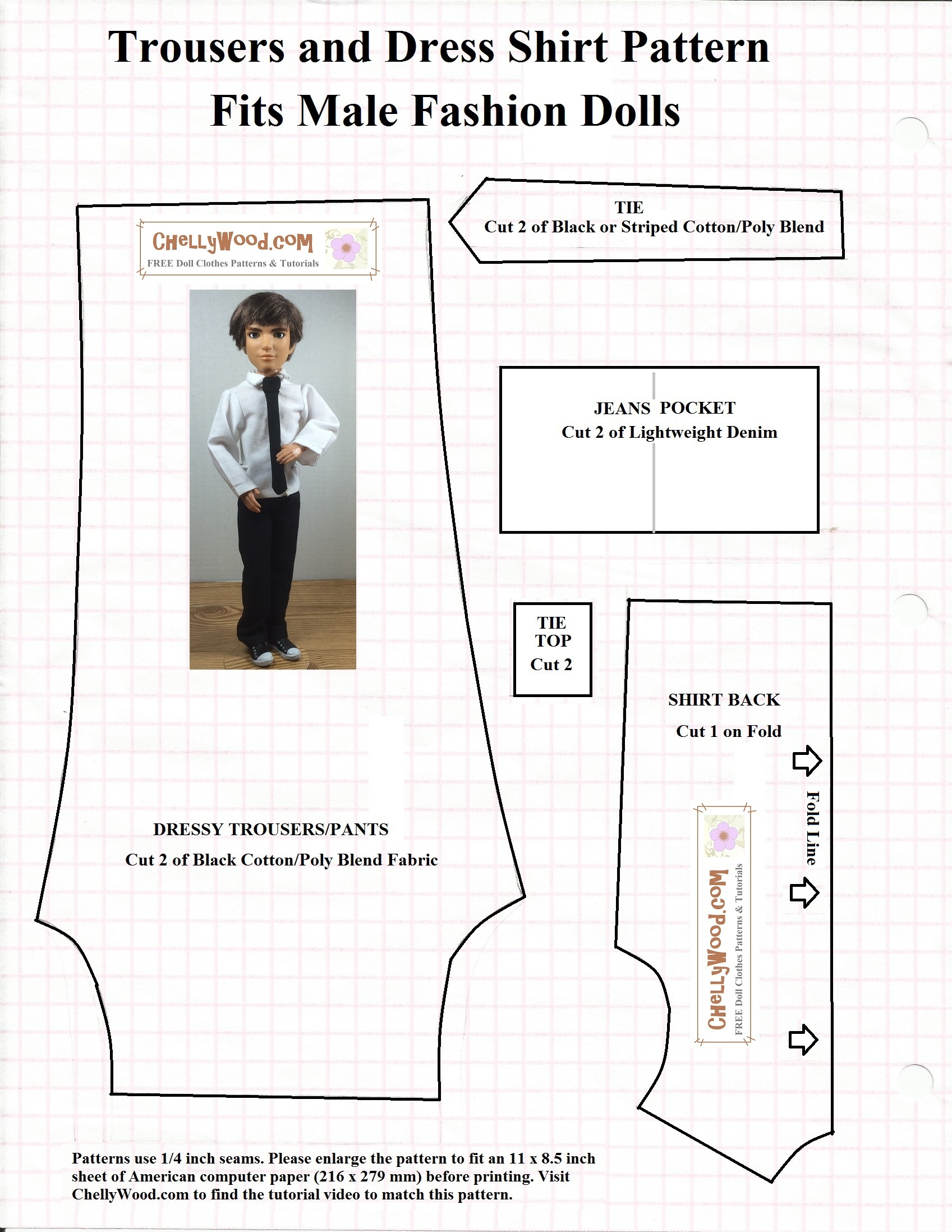 Free Printable #sewing Patterns For Ken #dolls' #clothes - Ken Clothes Patterns Free Printable