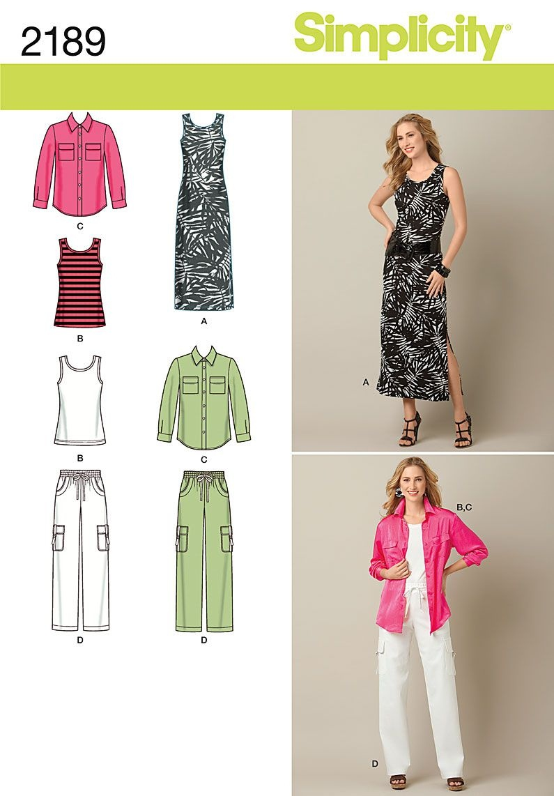 Free Printable Sewing Patterns | Simplicity 2189 - Misses' & Plus - Free Printable Plus Size Sewing Patterns