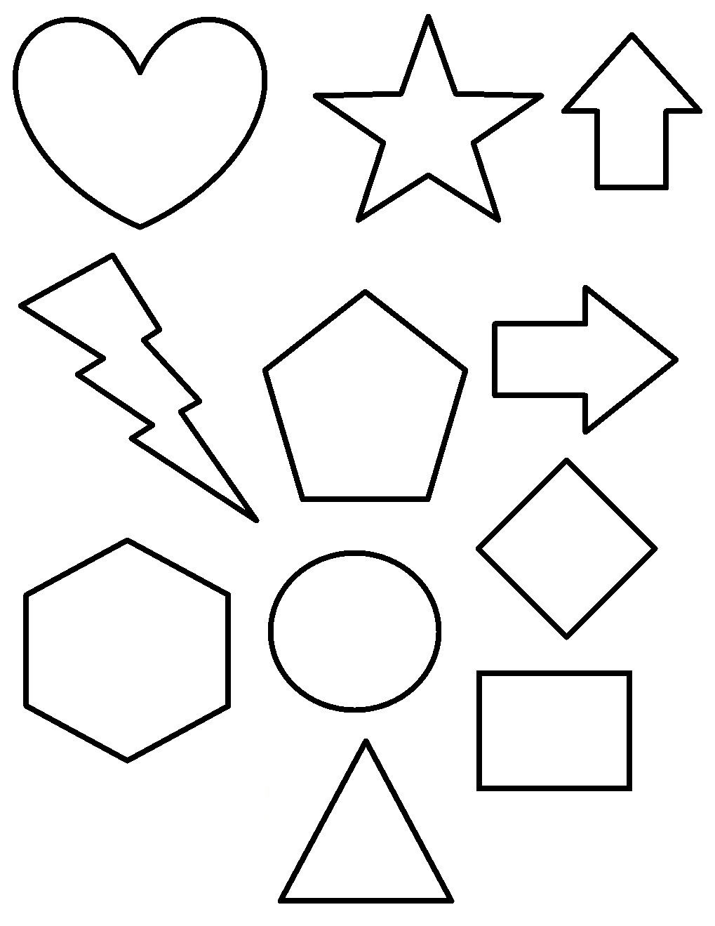 Free Printable Shapes Coloring Pages For Kids - Free Printable Shapes