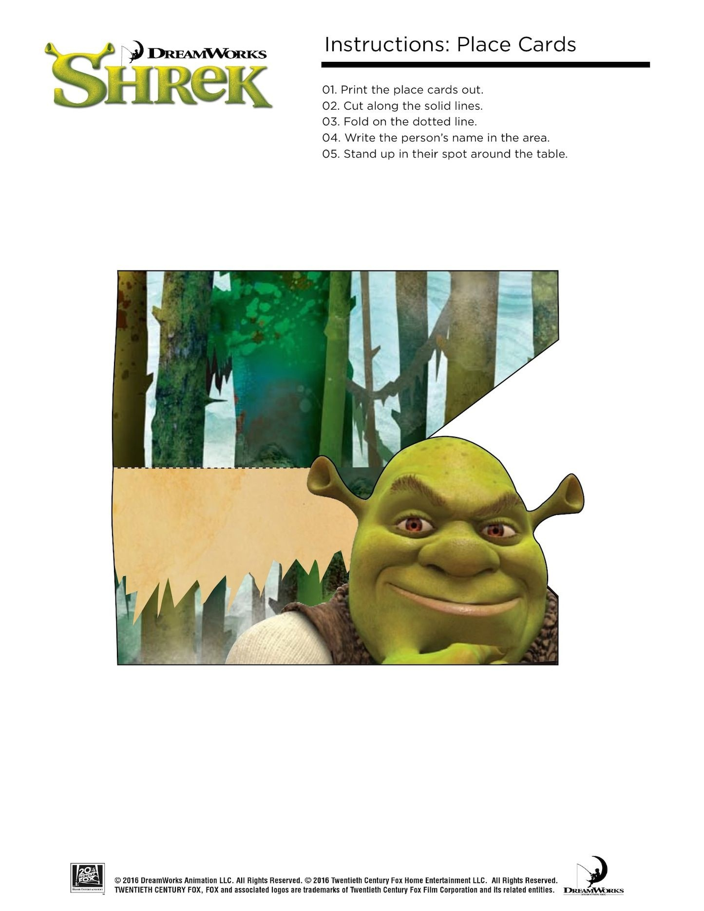 Free Printable Shrek Birthday Party: Invitation, Game, Party Hat - Free Printable Shrek Invitations