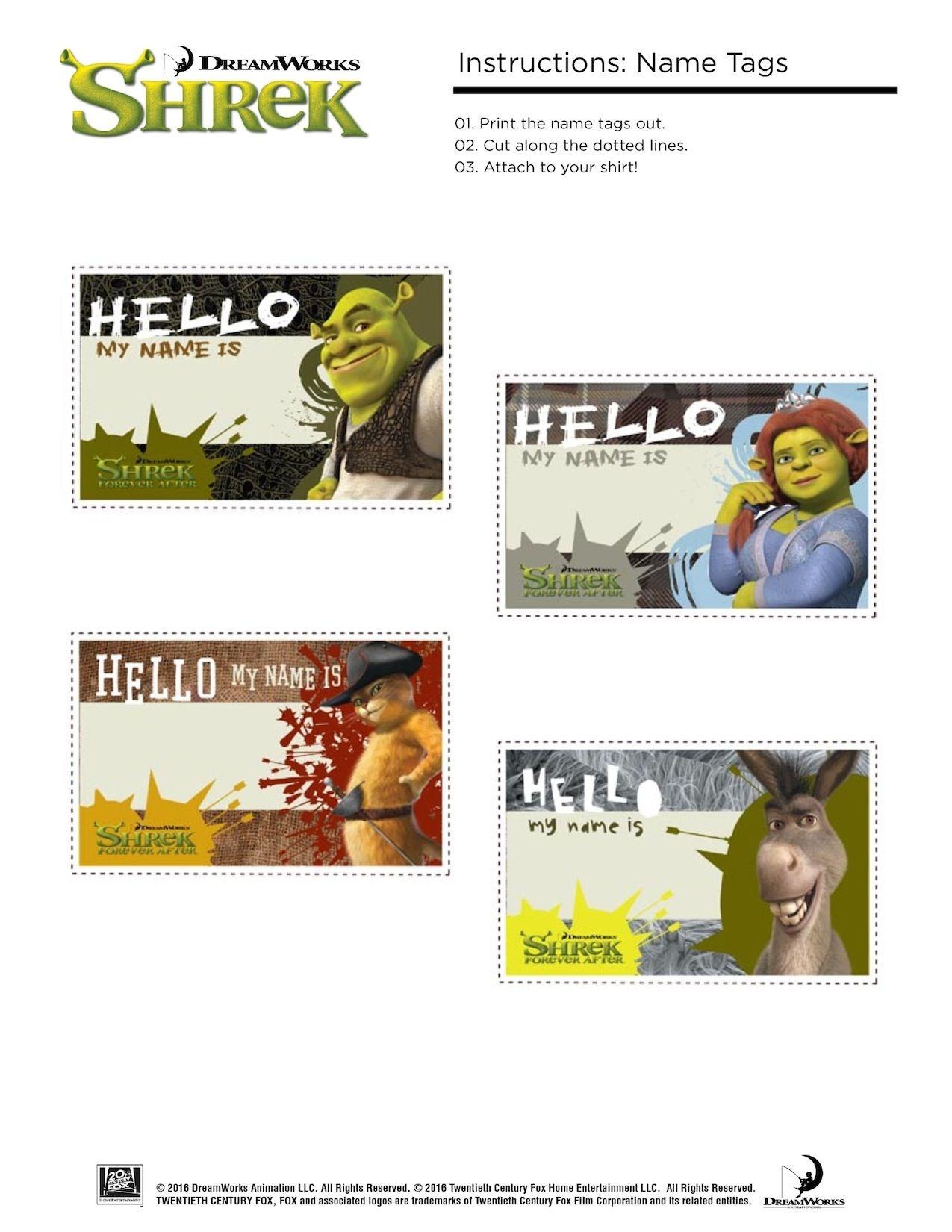 Free Printable Shrek Birthday Party: Invitation, Game, Party Hat - Free Printable Shrek Invitations