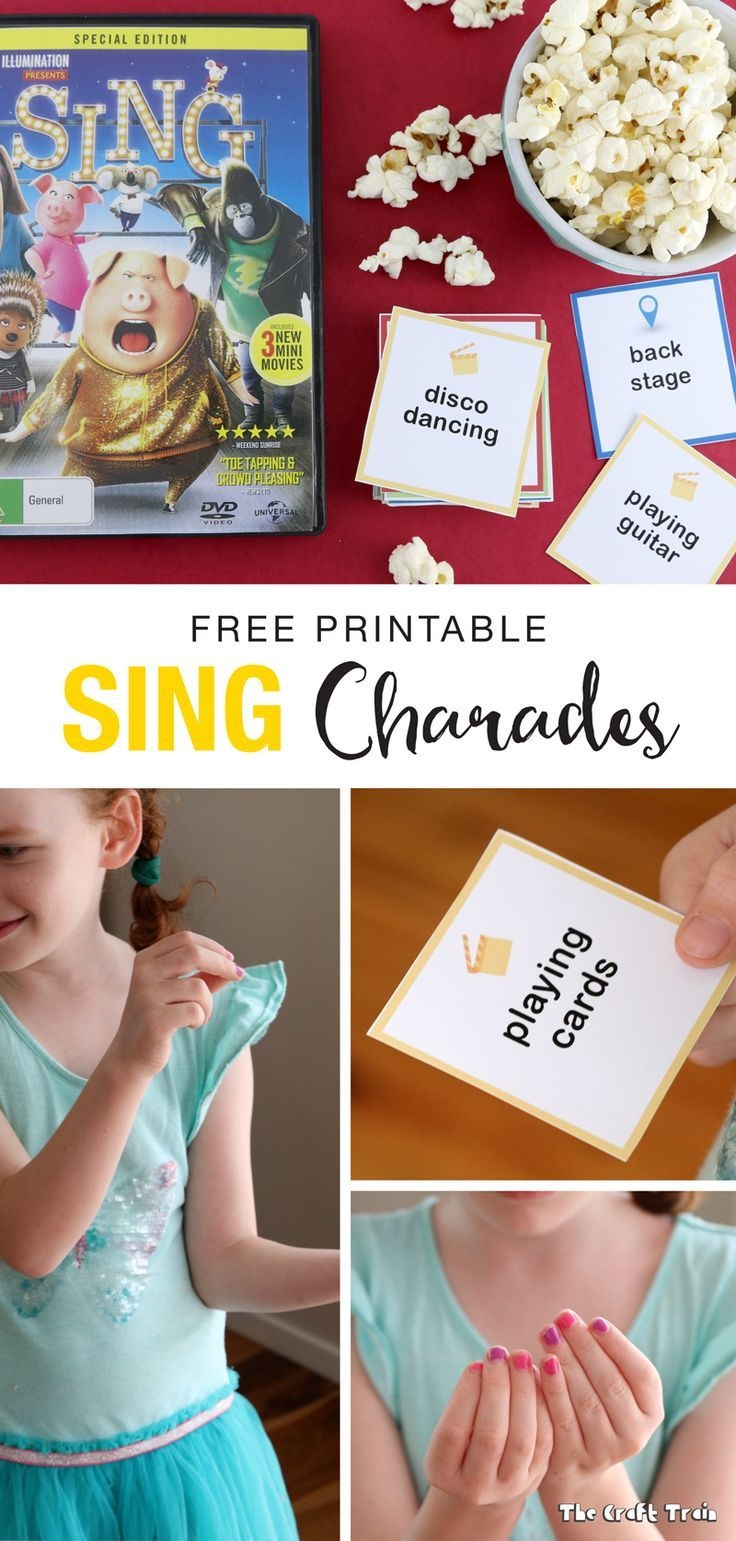 Free Printable Sing-Inspired Charades Cards | Music And Movement - Free Printable Charades Cards
