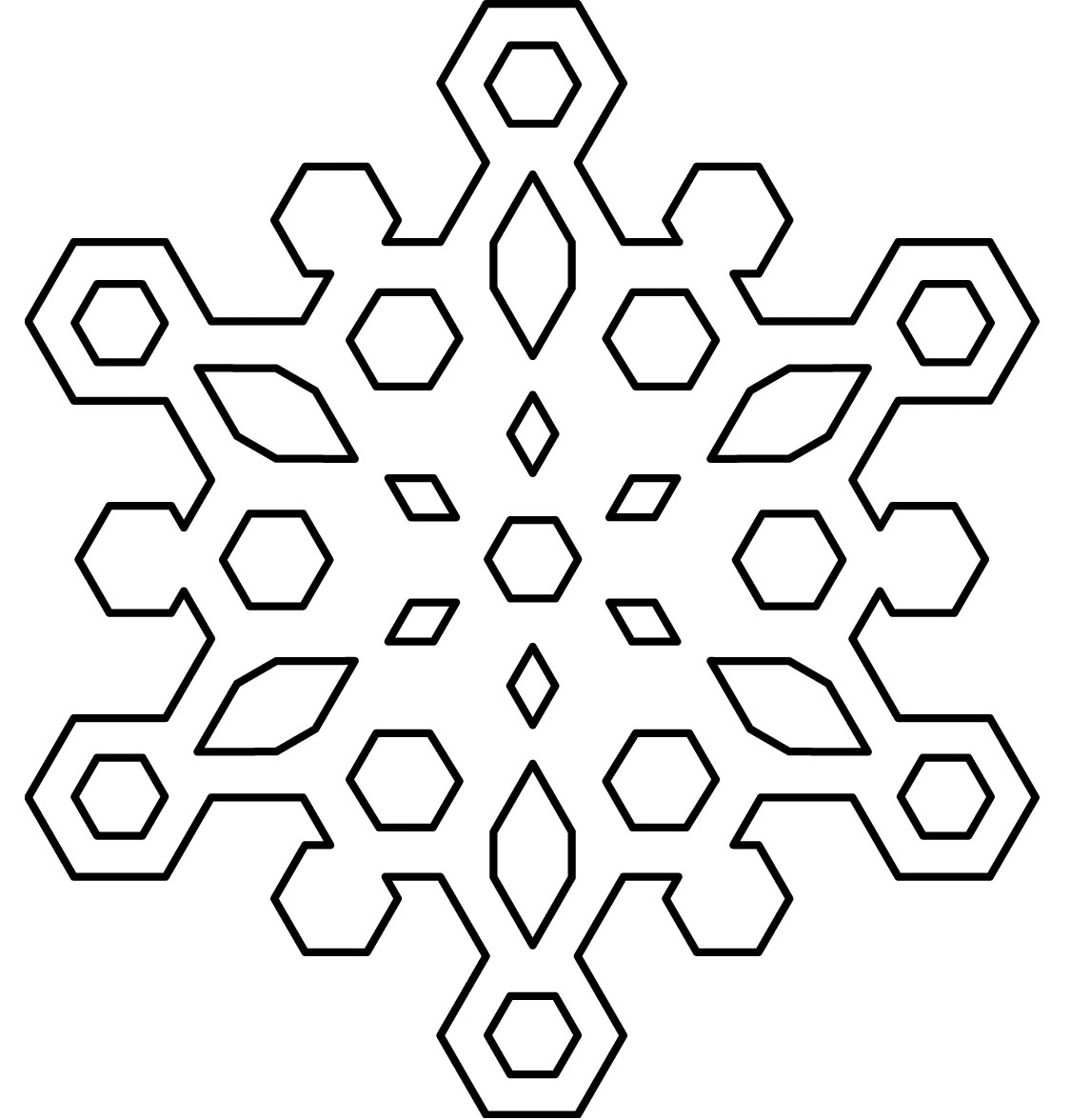 Free Printable Snowflake Coloring Pages For Kids - Free Snowflake Printable Coloring Pages