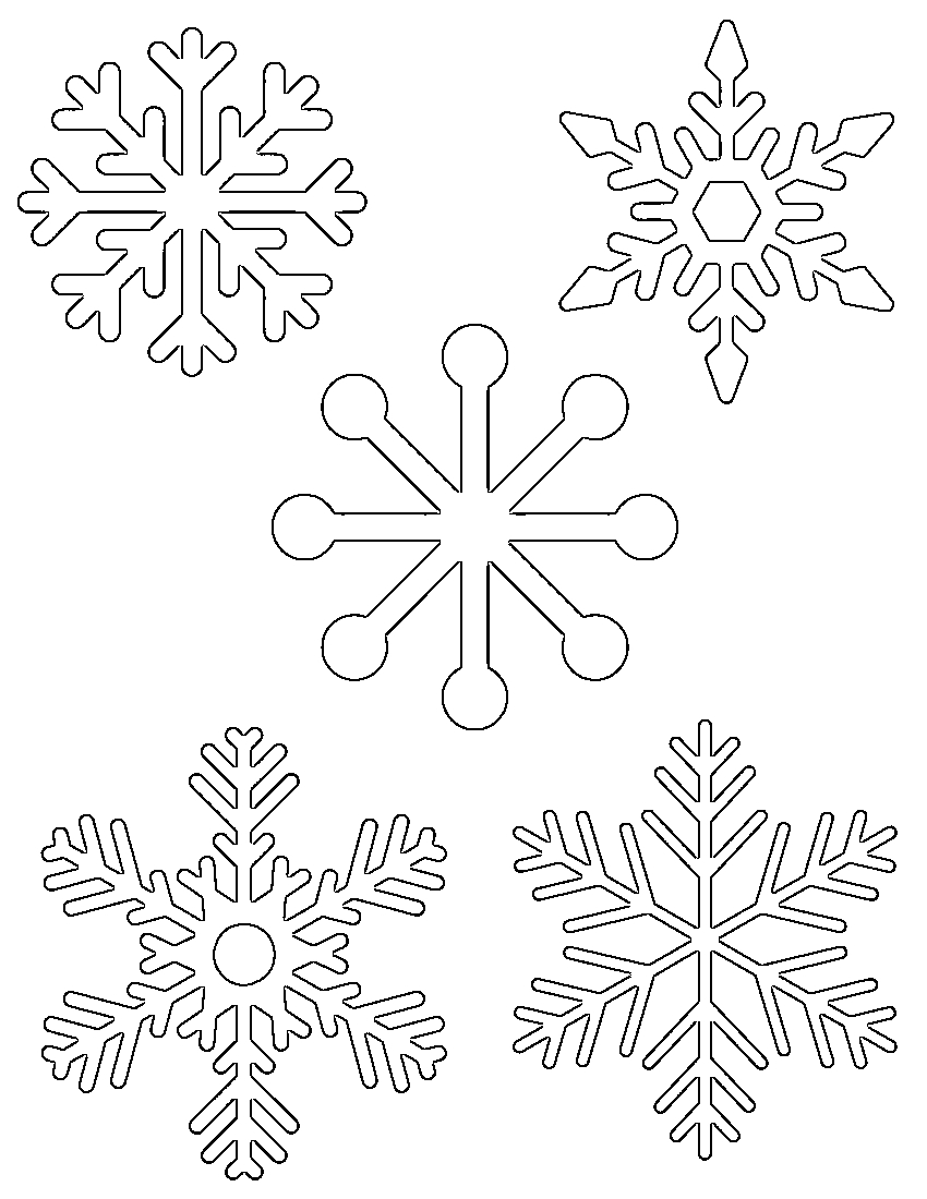 Free Printable Snowflake Templates – Large & Small Stencil Patterns - Free Snowflake Printable Coloring Pages