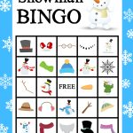 Free Printable Snowman Bingo Game | Winter Bliss | Christmas Bingo   Winter Bingo Cards Free Printable