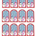 Free Printable Snowman Christmas Gift Tags   Christmas Name Tags Free Printable
