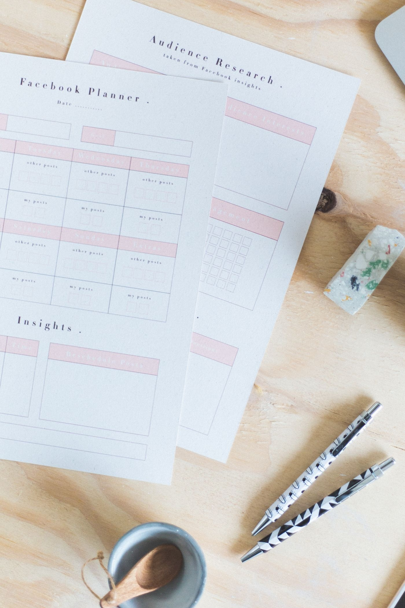 Free Printable Social Media Planners | Printables: Any & All - Free Printable Facebook Template