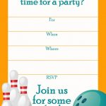 Free Printable Sports Birthday Party Invitations Templates | Dakota   Free Printable Bowling Birthday Party Invitations