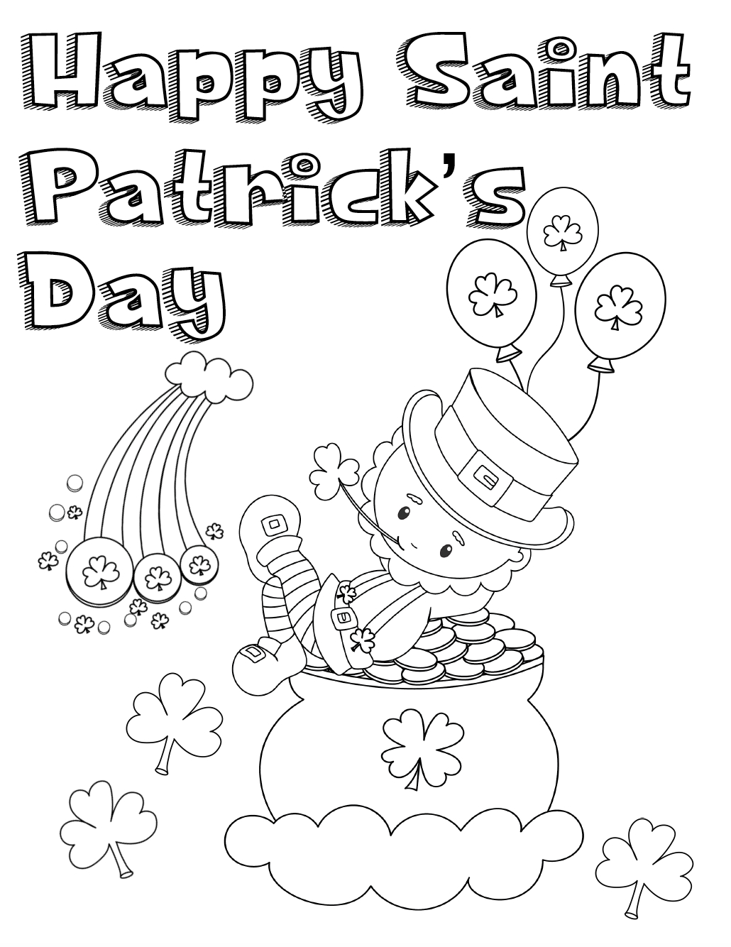 Free Printable St. Patrick's Day Coloring Pages: 4 Designs - Free Printable Saint Patrick Coloring Pages