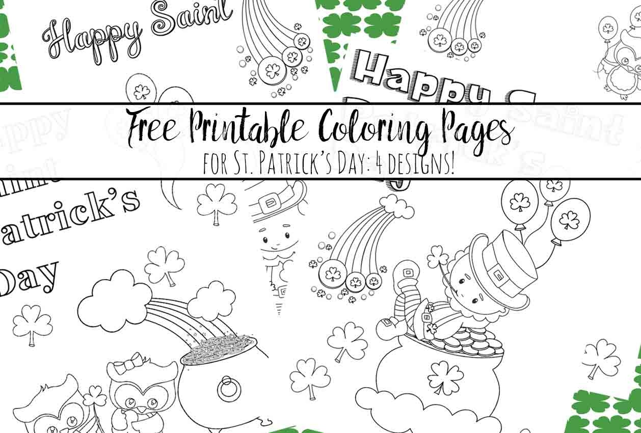 Free Printable St. Patrick's Day Coloring Pages: 4 Designs! - Free St Patrick's Day Printables