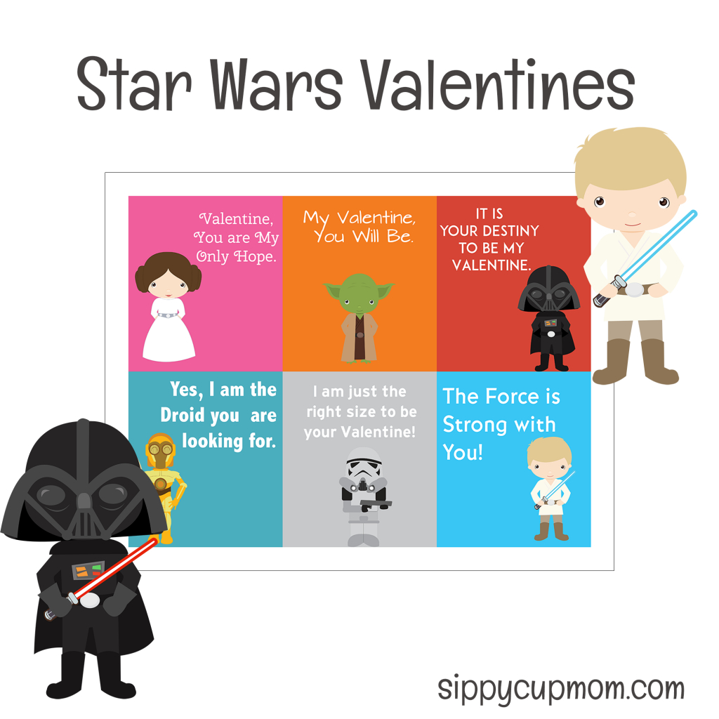 Free Printable Star Wars Valentine's Day Cards - Sippy Cup Mom - Free Printable Valentines Cards For Son