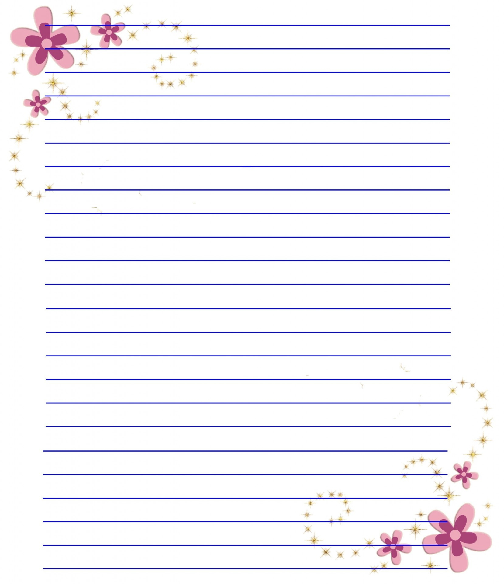 Free Printable Stationery Paper With Lines - Kaza.psstech.co - Free Printable Stationary With Lines