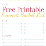 Free Printable Summer Bucket List   Free Printable Summer Pictures
