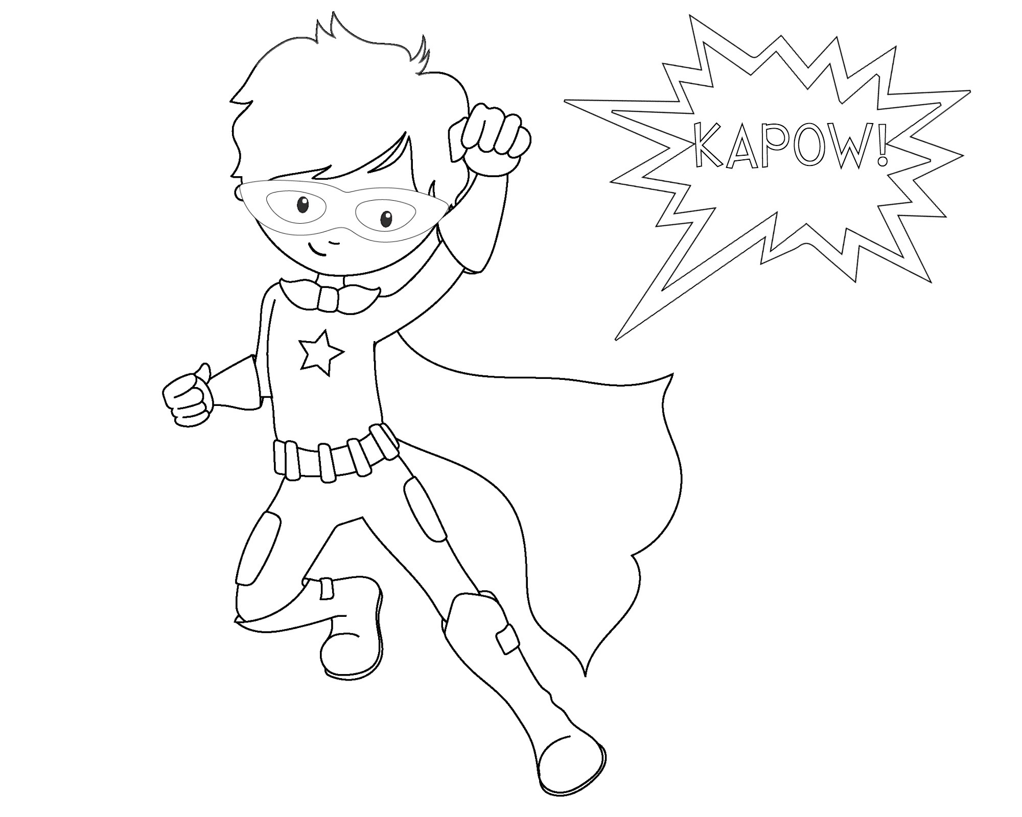 Free Printable Superhero Coloring Sheets For Kids - Crazy Little - Free Printable Superhero Coloring Pages Pdf